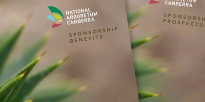 sponsorship collateral for an arboretum
