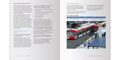 report design: annual report for a Metropolitan Transport organisation
