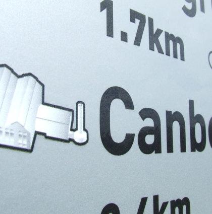 Signage system for lakeshore wayfinding